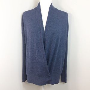 Eileen Fisher 100% Wool Blue Cardigan Size M